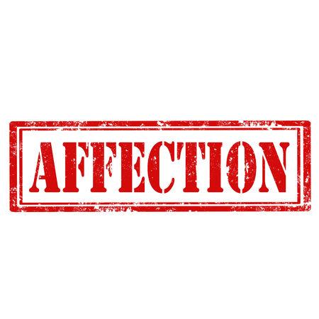 affection: Grunge rubber stamp with text Affection,vector illustration Illustration