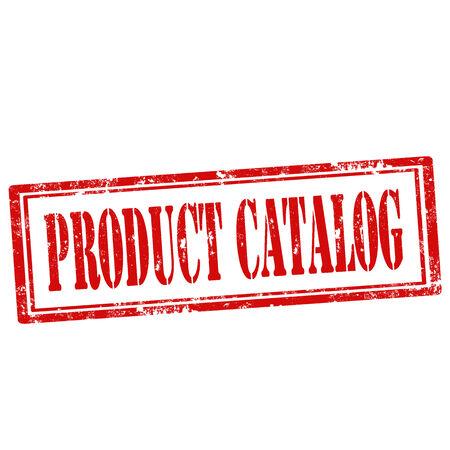 catalog: Grunge rubber stempel met tekst productcatalogus, vector illustratie