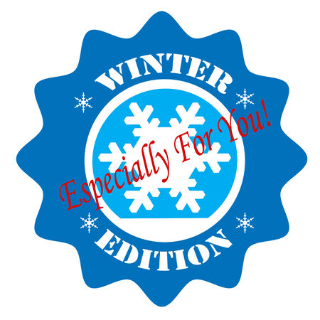 especially: Blue label with text Winter Edition-Especially For You,vector illustration Illustration