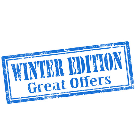edition: Grunge rubber stamp with text Winter Edition,vector illustration