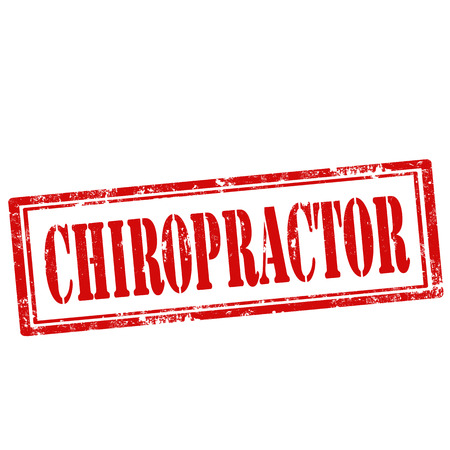 chiropractor: Grunge rubber stamp with text Chiropractor,vector illustration Illustration