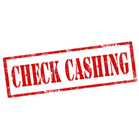cashing: Grunge rubber stamp with text Check Cashing,vector illustration