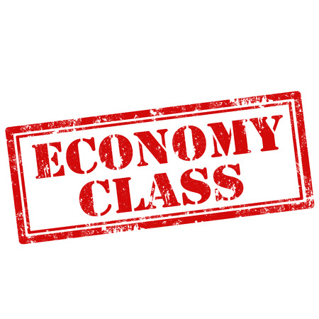 economy class: Grunge rubber stamp with text Economy Class,vector illustration