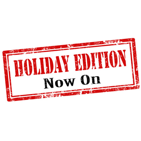 edition: Grunge rubber stamp with text Holiday Edition,vector illustration