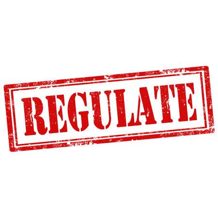 Grunge rubber stamp with text Regulate,vector illustration Illustration
