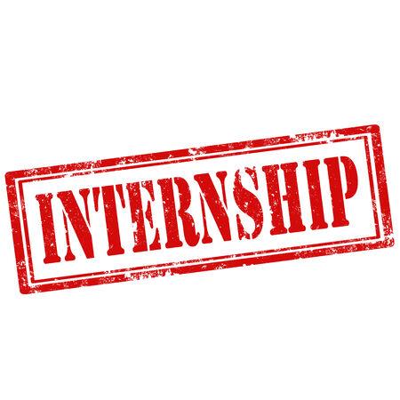 internship: Grunge rubber stamp with text Internship,vector illustration Illustration