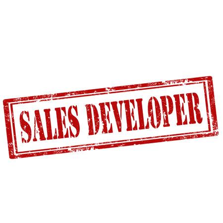 developer: Grunge rubber stamp with text Sales Developer,vector illustration