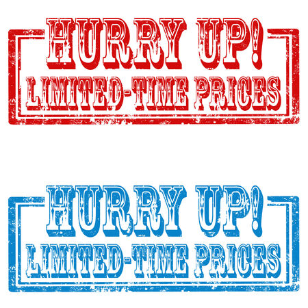 Set of grunge rubber stamps with text Limited-Time Prices,vector illustration