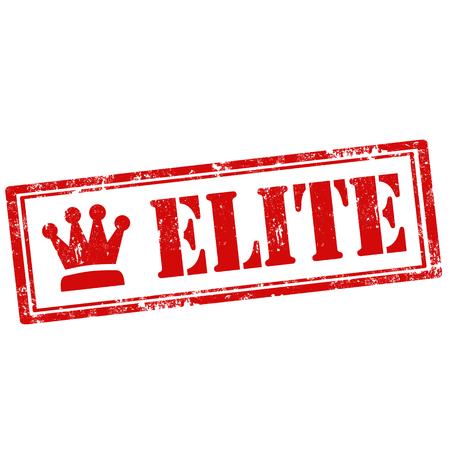 elite: Grunge rubber stamp with text Elite,vector illustration Illustration