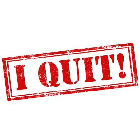 renuncia: Grunge sello de goma con el texto I Quit, ilustraci�n vectorial