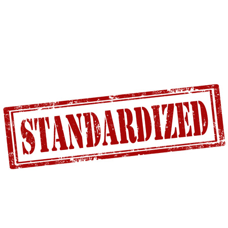 standardized: Grunge rubber stamp with text Standardized,vector illustration Illustration