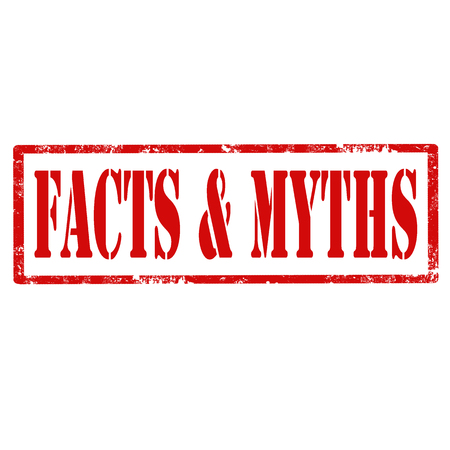 myths: Grunge rubber stamp with text Facts & Myths,vector illustration Illustration