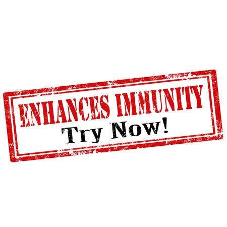 enhances: Grunge rubber stamp with text Enhances Immunity,vector illustration
