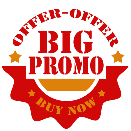 promo: Label with text Big Promo,vector illustration