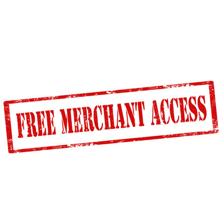 retailers: Grunge rubber stamp with text Free Merchant Access,vector illustration