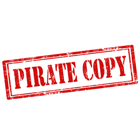 reproduce: Grunge rubber stamp with text Pirate Copy,vector illustration