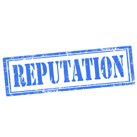 reputation: Grunge rubber stamp with text Reputation,vector illustration