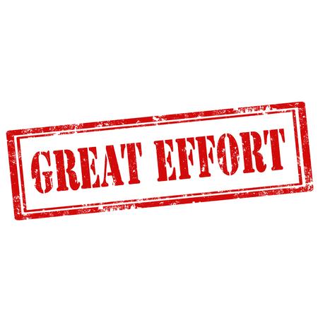 effort: Grunge rubber stamp with text Great Effort,vector illustration