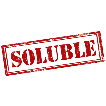 soluble: Grunge rubber stamp with text Soluble,vector illustration