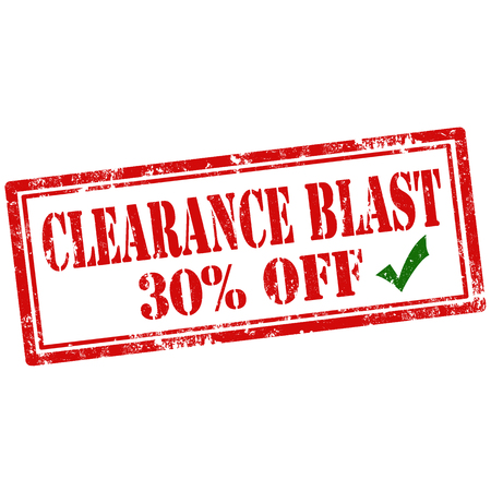thirty percent off: Grunge rubber stamp with text Clearance Blast-30%Off,vector illustration Illustration