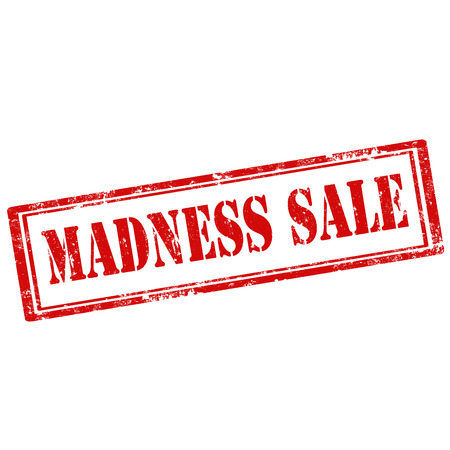 madness: Grunge rubber stamp with text Madness Sale Illustration