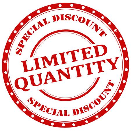 限定数量特別割引、ベクトル イラスト テキスト ゴム印