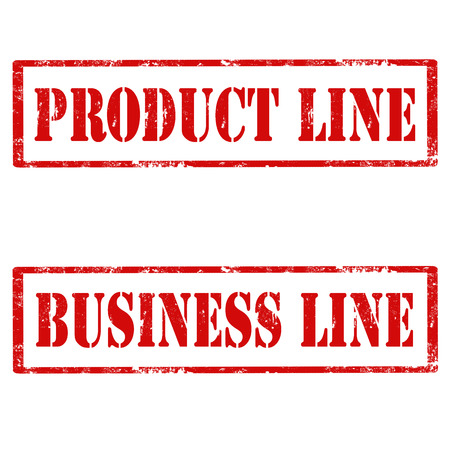 product line: Set of grunge rubber stamps with text Product Line and Business Line,vector illustration