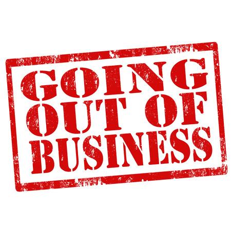 going out: Grunge timbro di gomma con il testo Going Out Of Business, illustrazione vettoriale