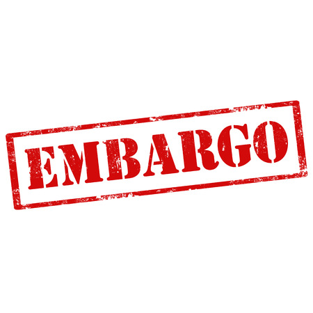 embargo: Grunge rubber stamp with text Embargo,vector illustration