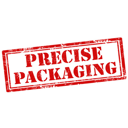 precise: Grunge rubber stamp with text Precise Packaging,vector illustration Illustration