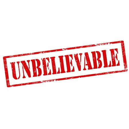 unbelievable: Grunge sello de goma con el texto Incre�ble, ilustraci�n vectorial