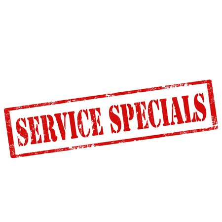 specials: Grunge rubber stamp with text Service Specials,vector illustration Illustration