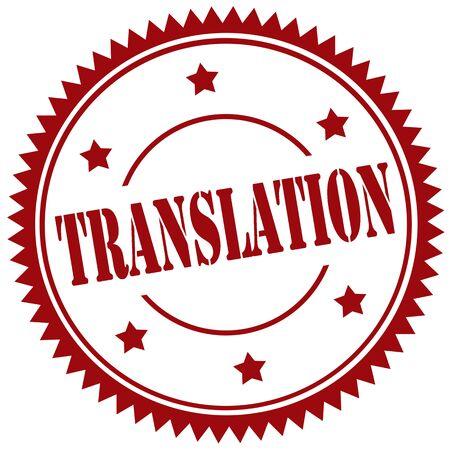 translation: Rubber stamp with text Translation,vector illustration