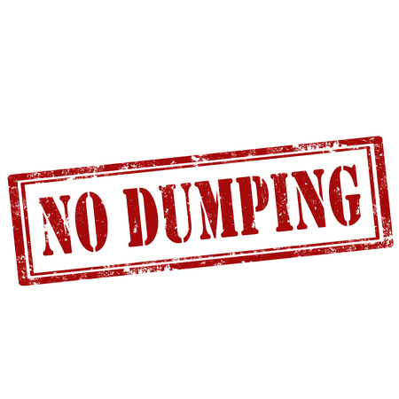 dumping: Grunge rubber stamp with text No Dumping,vector illustration