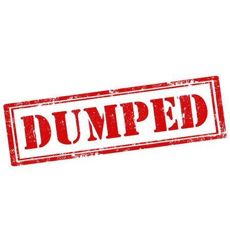 dumping: Grunge rubber stamp with text Dumped,vector illustration