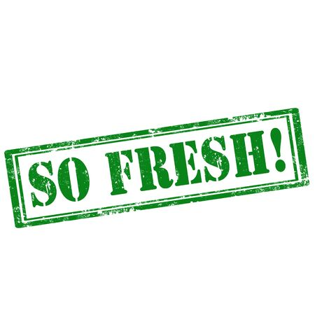 so: Grunge rubber stamp with text So Fresh,vector illustration