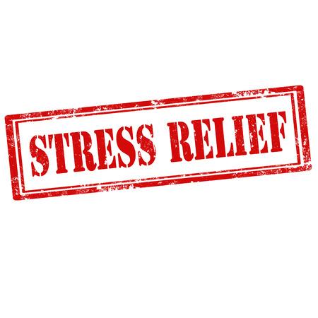 Grunge rubber stempel met tekst Stress Relief, vector illustratie