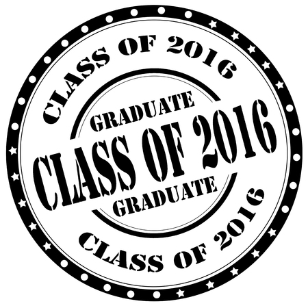 Grunge rubber stamp with text Class Of 2016,vector illustration Vettoriali