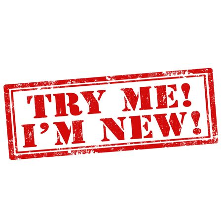 Grunge rubber stamp with text Try Me-I'm New,vector illustration