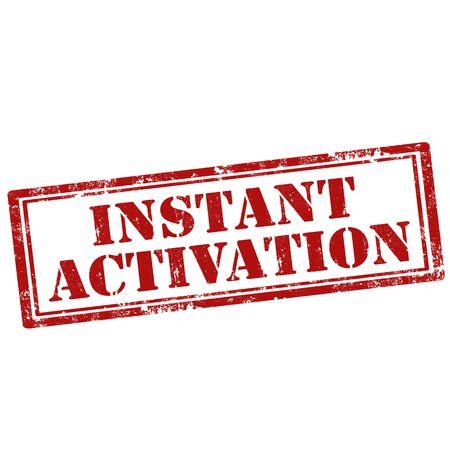 activacion: Grunge sello de goma con el texto de activaci�n instant�nea, ilustraci�n vectorial Vectores