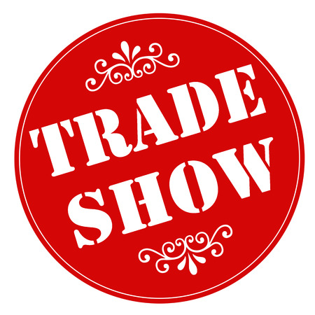 trade show: Red stamp with text Trade Show,illustration