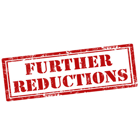 further: Grunge rubber stamp with text Further Reductions,vector illustration