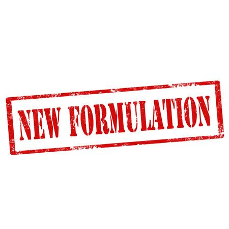 formulation: Grunge rubber stamp with text New Formulation,vector illustration