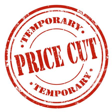 price cut: Grunge timbro di gomma con il testo Riduzione dei prezzi, illustrazione vettoriale