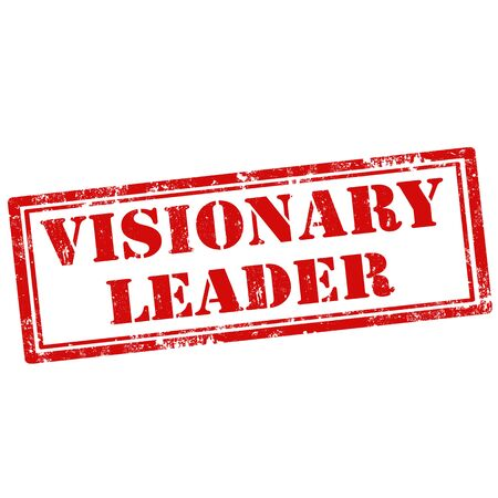 visionary: Grunge rubber stamp with text Visionary Leader,vector illustration
