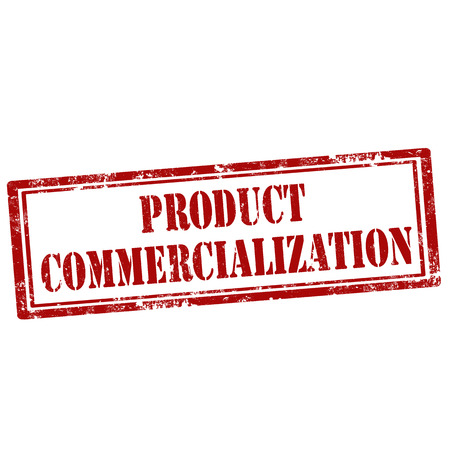commercialization: Grunge rubber stamp with text Product Commercialization,vector illustration