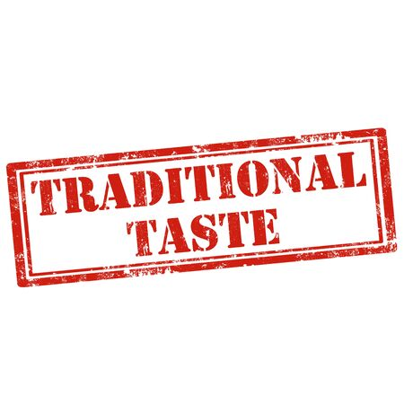 taste: Grunge rubber stamp with text Traditional Taste,vector illustration