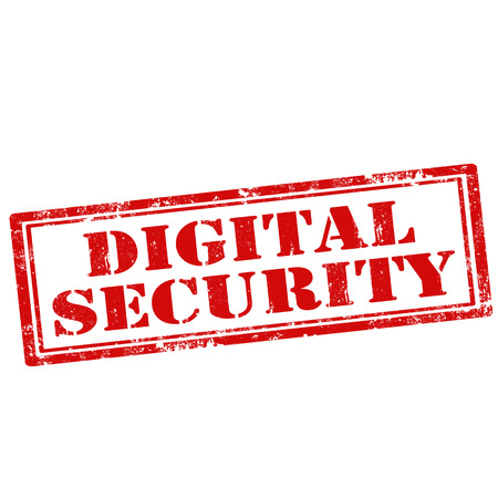 digital security: Grunge rubber stamp with text Digital Security,vector illustration