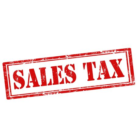 fiscal: Grunge rubber stamp with text Sales Tax