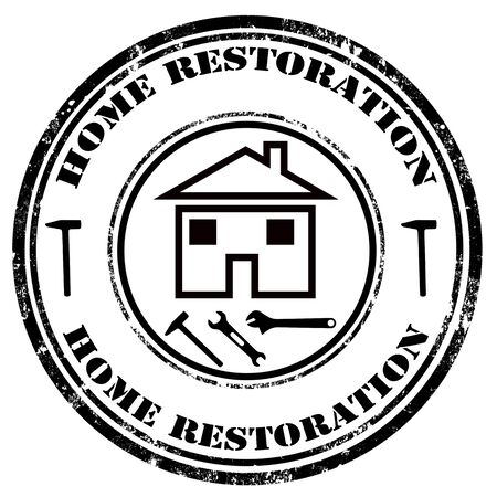 restoration: Grunge rubber stamp with text Home Restoration,vector illustration Illustration